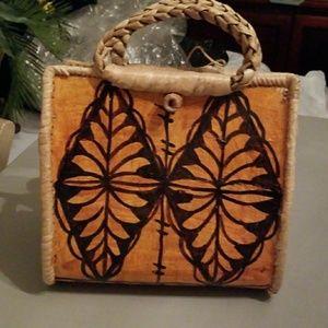 Hawaiian hand made handbag.